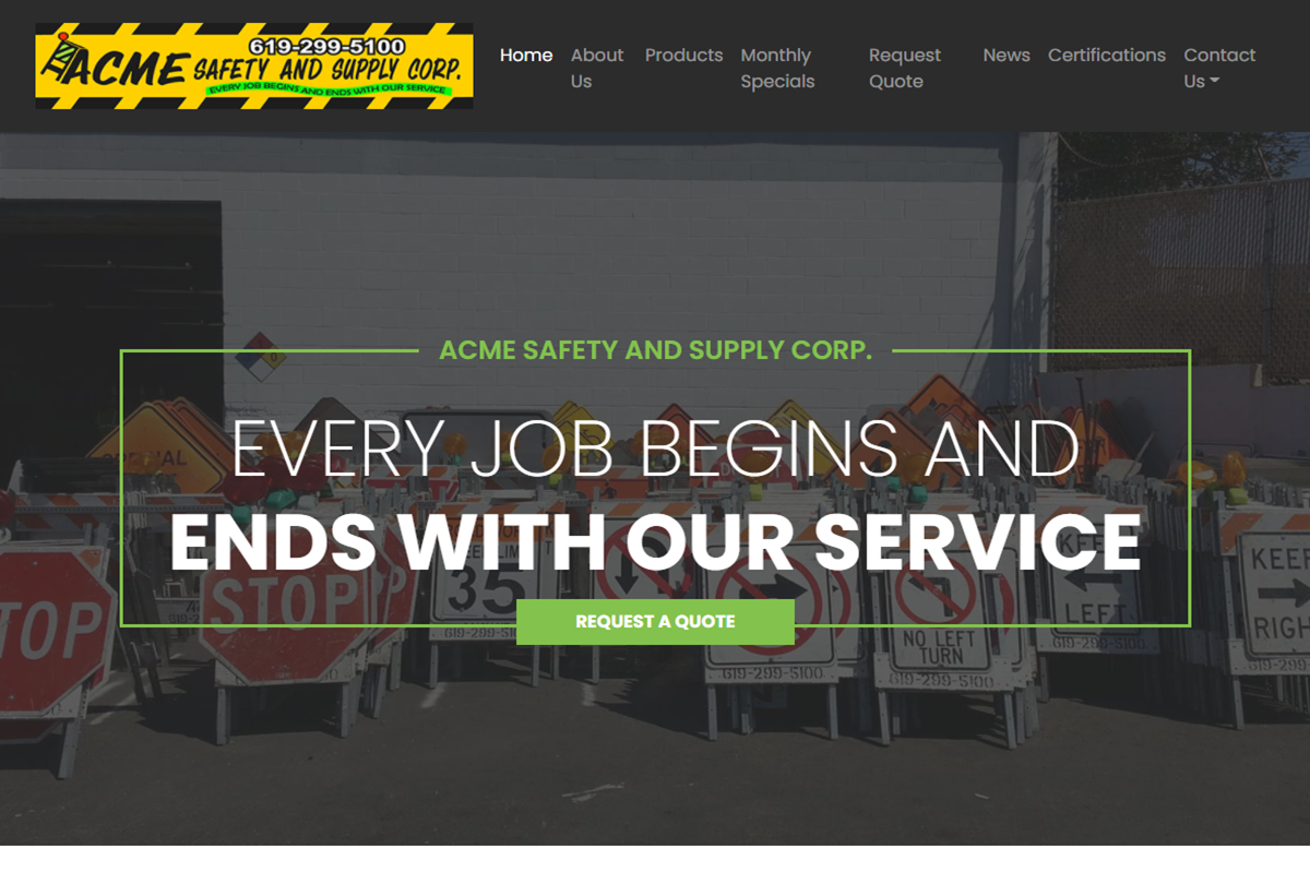 ACME SAFETY AND SUPPLY CORP.